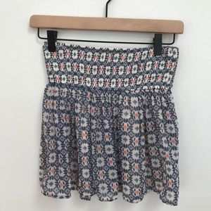 NWT Hollister Geometric Print Sheer Mini Skirt